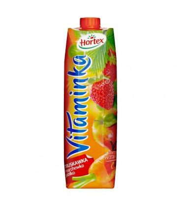 Hortex Vitaminka Truskawka marchewka jabłko Sok 1 l