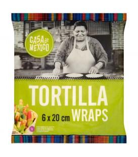 Casa de Mexico Placek pszenny tortilla 20 cm 240 g (6 sztuk)