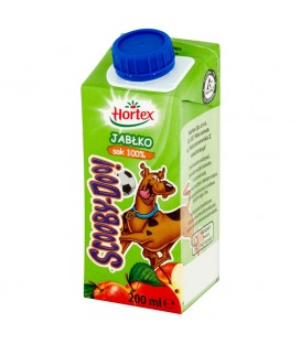 Hortex Scooby-Doo! Jabłko Sok 100% 200 ml