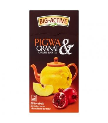 Big-Active Pigwa & Granat Herbata czarna z kawałkami owoców 40 g (20 torebek)