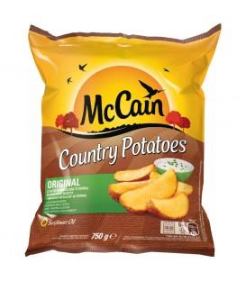 McCain Country Potatoes Original Cząstki ziemniaczane ze skórką 750 g