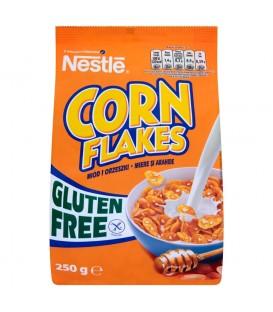 Nestlé Corn Flakes Miód i orzeszki Płatki śniadaniowe z miodem i orzeszkami 250 g