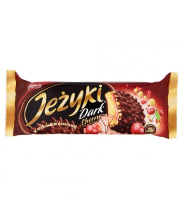 Jeżyki Dark Cherry Herbatniki w czekoladzie deserowej 140 g
