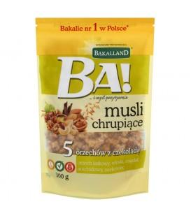 Bakalland Ba! Musli chrupiące 5 orzechów z czekoladą 300 g