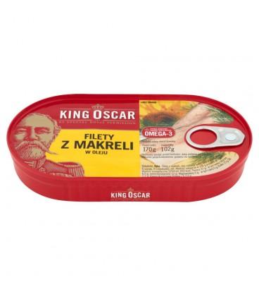 King Oscar Filety z makreli w oleju 170 g
