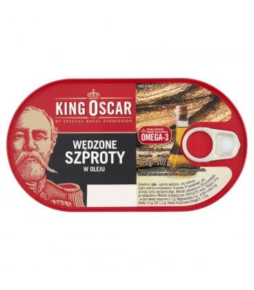 King Oscar Wędzone szproty w oleju 170 g
