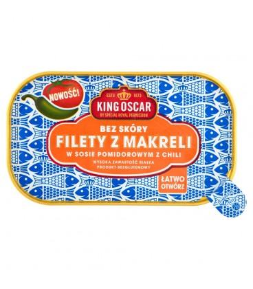 King Oscar Filety z makreli w sosie pomidorowym z chili 110 g