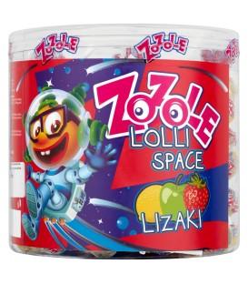 Zozole Lolli Space Lizaki o smaku jabłkowym truskawkowym i cytrynowym 1,425 kg (150 sztuk)