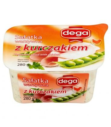 Dega Sałatka warzywna z kurczakiem 280 g
