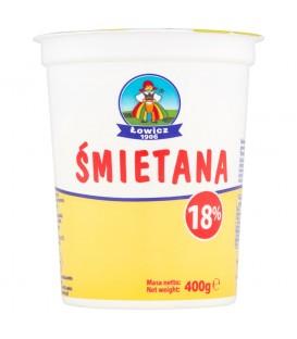 Łowicz Śmietana do zup i sosów 18% 400 g