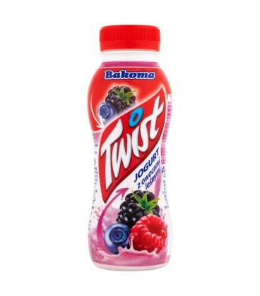 Bakoma Twist Jogurt z owocami leśnymi 250 g