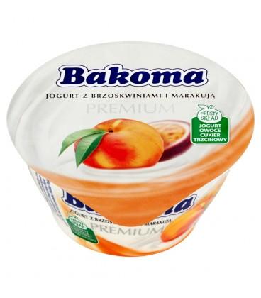 Bakoma Premium Jogurt z brzoskwiniami i marakują 140 g
