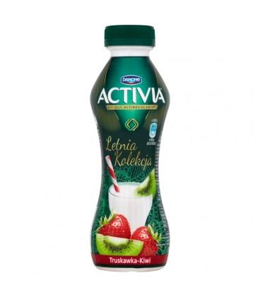 Danone Activia Letnia Kolekcja Truskawka kiwi Jogurt 300 g