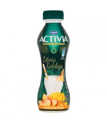 Danone Activia Letnia Kolekcja Brzoskwinia mango Jogurt 300 g