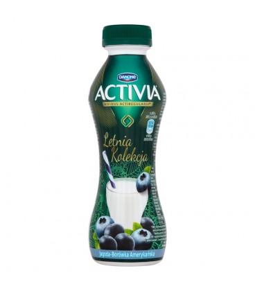 Danone Activia Letnia Kolekcja Jagoda borówka amerykańska Jogurt 300 g