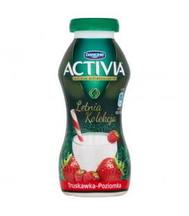 Danone Activia Letnia Kolekcja Truskawka poziomka Jogurt 195 g
