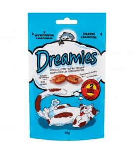 Dreamies z wybornym łososiem Karma uzupełniająca dla kotów i kociąt 60 g