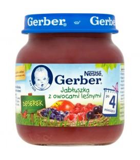 Gerber Deserek Jabłuszka z owocami leśnymi po 4 miesiącu 125 g