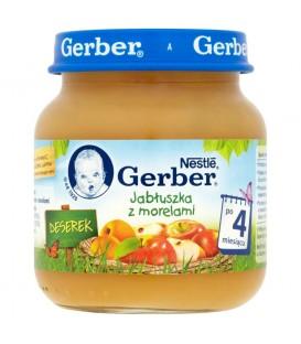 Gerber Deserek Jabłuszka z morelami po 4 miesiącu 125 g