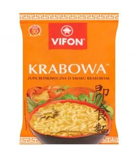 Vifon Krabowa Zupa błyskawiczna o smaku krabowym ostra 70 g