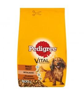 Pedigree Vital Protection z drobiem i warzywami Małe rasy Witalność Karma pełnoporcjowa 400 g