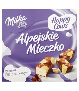 Milka Alpejskie Mleczko Pianka o smaku śmietankowym Happy Cows 330 g