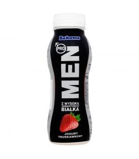 Bakoma Men Pro Jogurt truskawkowy z wysoką zawartością białka 230 g