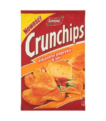 Crunchips Pikantna papryka & Ser Chipsy ziemniaczane 150 g