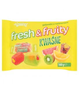 Wawel Fresh & Fruity Kwaśne Galaretki z nadzieniem 160 g