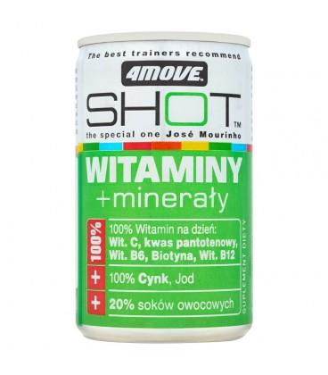 4Move Shot Witaminy + minerały Niegazowany napój o smaku cytrynowo-limonkowym 150 ml