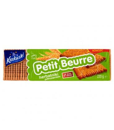 Krakuski Petit Beurre Herbatniki pełnoziarniste 220 g