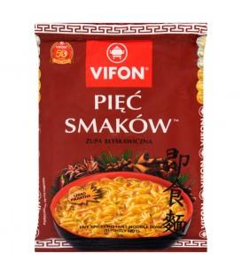 Vifon Pięć Smaków Zupa błyskawiczna lekko pikantna 70 g