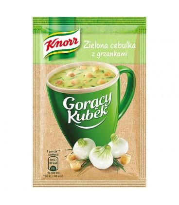 Knorr Gorący Kubek Smak zielona cebulka z grzankami 17 g