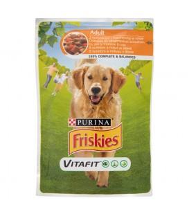 Friskies Vitafit Adult z kurczakiem i marchewką w sosie Pełnoporcjowa karma dla dorosłych psów 100 g