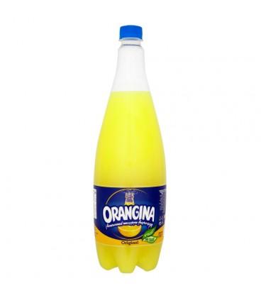 Orangina Original Napój gazowany z sokiem i miąższem pomarańczy 1,4 l
