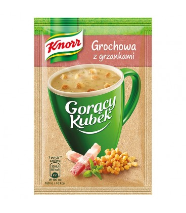 Knorr Gorący Kubek Grochowa z grzankami 21 g