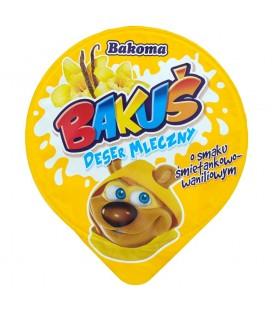 Bakoma Bakuś Deser mleczny o smaku śmietankowo-waniliowym 100 g