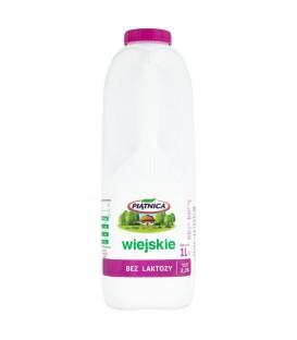 Mleko Wiejskie bez LAKTOZY 2% 1l.