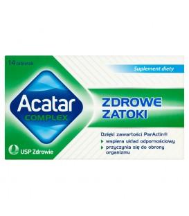 Acatar Complex Zdrowe Zatoki Suplement diety 14 tabletek