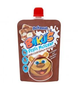 Bakoma Bakuś Deser mleczny o smaku czekoladowo-orzechowym 80 g