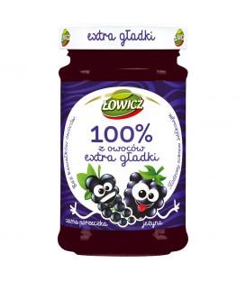 Łowicz 100% z owoców extra gładki czarna porzeczka jeżyna 235 g