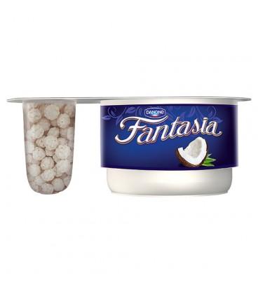 Danone Fantasia White Jogurt kremowy z kulkami kokosowymi 98 g