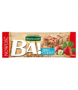 Bakalland Ba! 5 zbóż & truskawka z quinoa Baton zbożowy 30 g