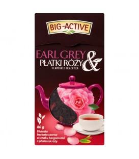 Big-Active Herbata czarna aromatyzowana Earl Grey z płatkami róży 80g