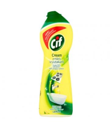 Cif Cream Lemon z mikrokryształkami Mleczko do czyszczenia powierzchni 300 g