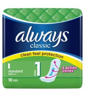 Always podpaski Classic Standard 10 szt