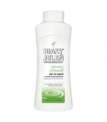 Biały Jeleń Hipoalergiczny płyn do kąpieli naturalny chlorofil 750 ml
