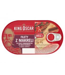 Filety z makreli w sos pomidor. po meksyk. o smaku chipotle 170g