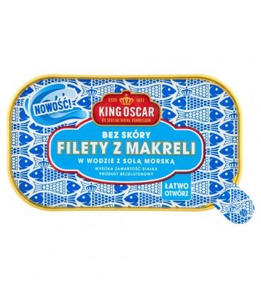 King Oscar Filety z makreli w wodzie z solą morską 110 g