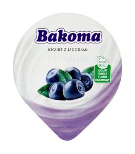 Bakoma Premium Jogurt z jagodami 140 g